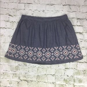 American Eagle Outfitters Embroidered Circle Skirt